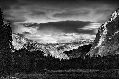 Yosemite Valley Black And White Original