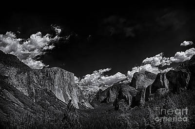 Photograph - Yosemite Valley Bw 1 by David Doucot