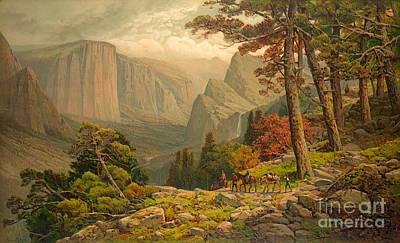 Yosemite Valley California 1887 Art Print