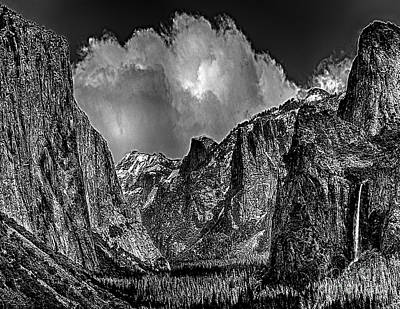 Yosemite Valley From Tunnel Art Print by Bob and Nadine Johnston