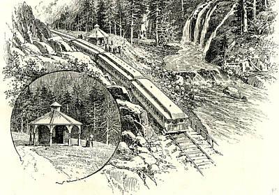 Yosemite Drawing - Yosemite Valley Mossbrae 1891 Usa by English School
