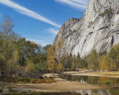 Digital Art - Yosemite Valley Stream by Jim Pavelle
