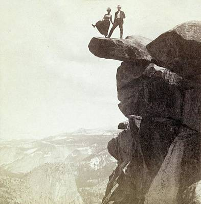Overhang Photograph - Yosemite Valley Tourism by Library Of Congress