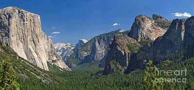 Photograph - Yosemite Valley Tunnel View Panorama by Charles Kozierok