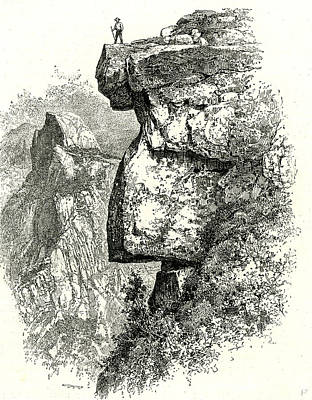 Yosemite National Park Drawing - Yosemite Valley Upon Glacier Point Usa 1891 by English School