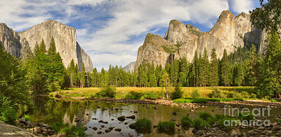 Shadows Photograph - Yosemite Valley View Panorama by Charles Kozierok