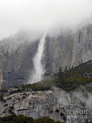 Photograph - Yosemite Waterfall In The Clouds by Scott Shaw