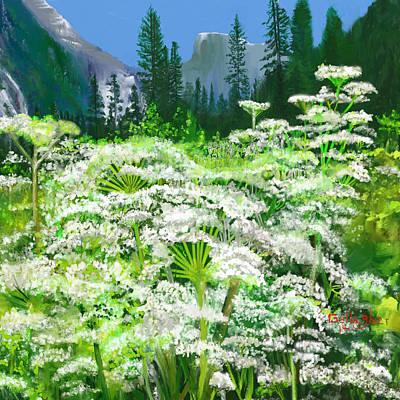El Capitan Painting - Yosemite Weeds by John  Gallagher