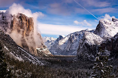 Half Dome Photograph - Yosemite Tunnel View by Alexis Birkill