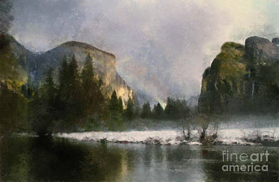 Painting - Yosiimty National Park by Scott B Bennett