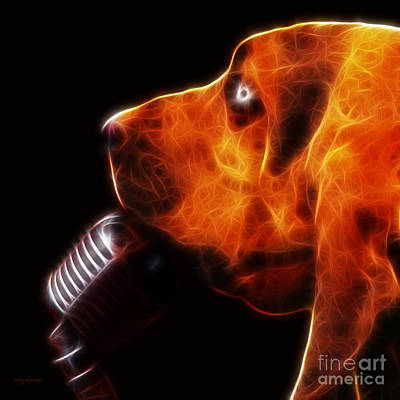 Photograph - You Ain't Nothing But A Hound Dog - Dark - Electric by Wingsdomain Art and Photography