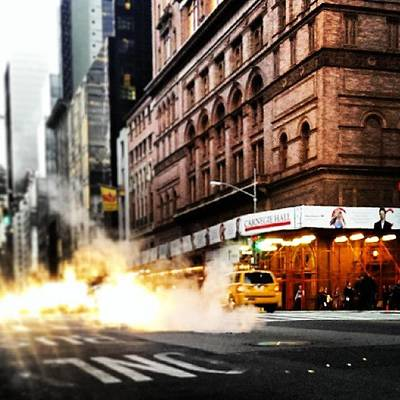 Steam Photograph - You Always Do This.  #nyc #manhattan by Mark ODwyer