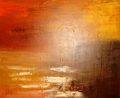 Abstrac Painting - You Are Ligth Of The World And Salt Of The Earth by Lalo Gutierrez