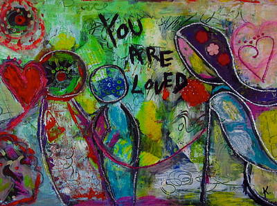 Painting - You Are Loved by Corina  Stupu Thomas