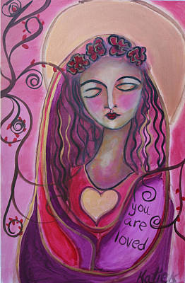Painting - You Are Loved I by Katie Ketchum