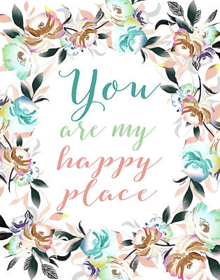 Family Love Painting - You Are My Happy Place II by Tara Moss