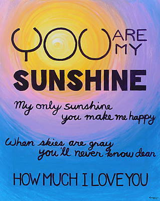 Painting - You Are My Sunshine by Kume Bryant
