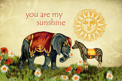Digital Art - You Are My Sunshine by Peggy Collins