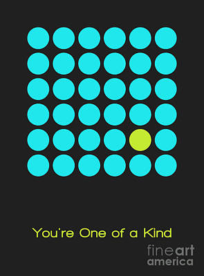 Lime Digital Art - You Are One Of A Kind - Blue by Aimelle