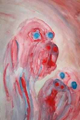 Response Painting - You Think You Are The Future But You Are Just A Little Animal And Nobody Cares  by Hilde Widerberg