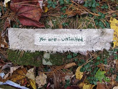 Tapestry - Textile - You Are Unlimited by Linda Marcille