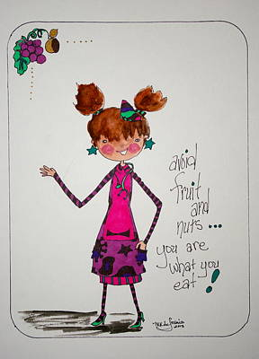 You Are What You Eat Art Print by Mary Kay De Jesus