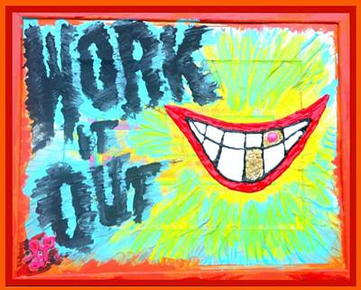Art Print featuring the painting You Better Work It Out by Lisa Piper