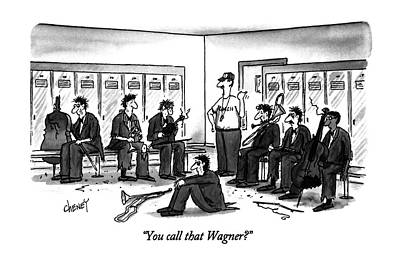 Athletic Drawing - You Call That Wagner? by Tom Cheney