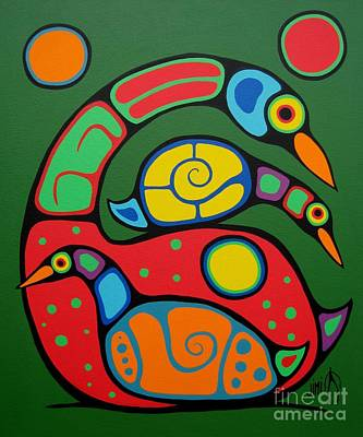 Native Art Painting - You Can Do It by Jim Oskineegish