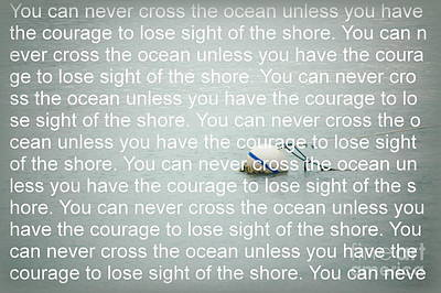 Photograph - You Can Never Cross The Ocean by Tamyra Crossley