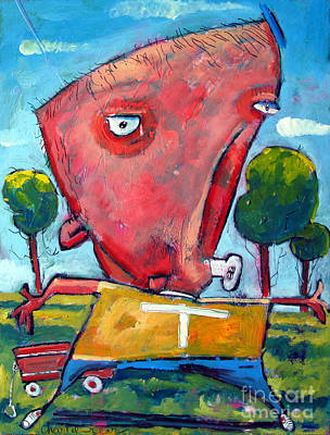 Crying Painting - You Cant Hurt Me My Name Is Timmy Unleashed Series No 2 by Charlie Spear