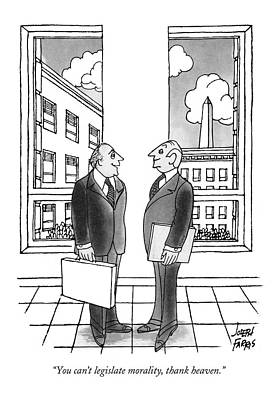 Cities Drawing - You Can't Legislate Morality by Joseph Farris