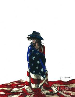 Drawing - You Find Freedom Inside by J Ferwerda