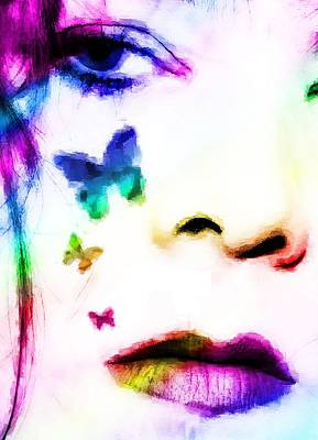 Butterlfy Digital Art - You Give Me Butterflies by Christy Leigh
