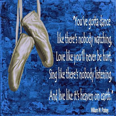 Listening Digital Art - You Gotta Dance - Blue by Barbara St Jean