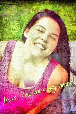 Smiling Jesus Digital Art - You Have My Heart by Michelle Greene Wheeler