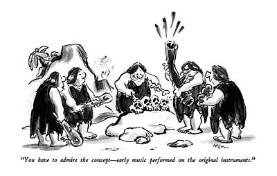 Playing Drawing - You Have To Admire The Concept - Early Music by Lee Lorenz