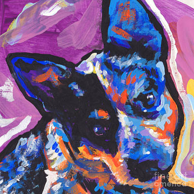 Dog Pop Art Painting - You Heel Me by Lea S