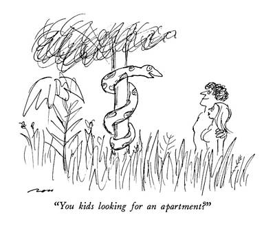 Bible Drawing - You Kids Looking For An Apartment? by Al Ross