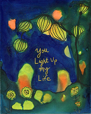 Painting - You Light Up My Life by AnaLisa Rutstein