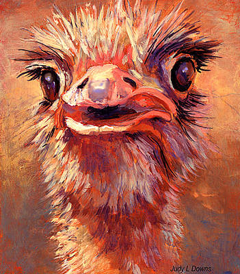 You Lookin At Me?? Art Print by Judy Downs