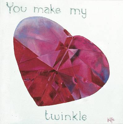 Painting - You Make My Heart Twinkle by Jette Van der Lende