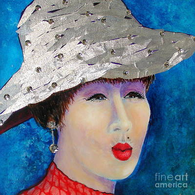 Fabric Mixed Media - You May Kiss Me by Freddie Lieberman