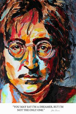 Derek Russell Wall Art - Painting - You May Say I'm A Dreamer But I'm Not The Only One John Lennon by Derek Russell