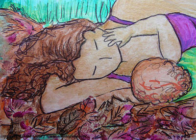 Painting - You Me And The Autumn Leafs by Gioia Albano