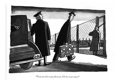 Drawing - You Needn't Wait by Peter Arno