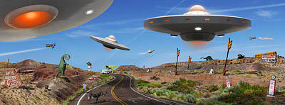 Ufo Photograph - You Never Know . . . Panoramic by Mike McGlothlen