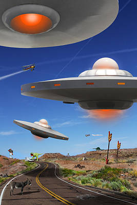 Ufo Photograph - You Never Know What You Will See On Route 66 by Mike McGlothlen