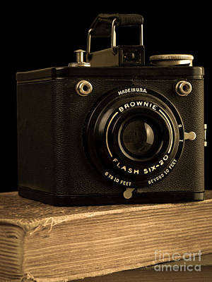 Photograph - You Push The Button We Do The Rest Kodak Brownie Vintage Camera by Edward Fielding