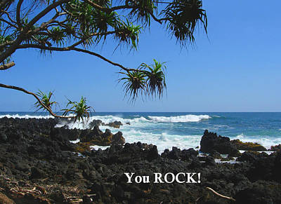 Photograph - You Rock - South Shore Of Maui by Connie Fox